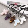 cross necklace,cross pendant,natural stone jewelry(SWTJU1756)