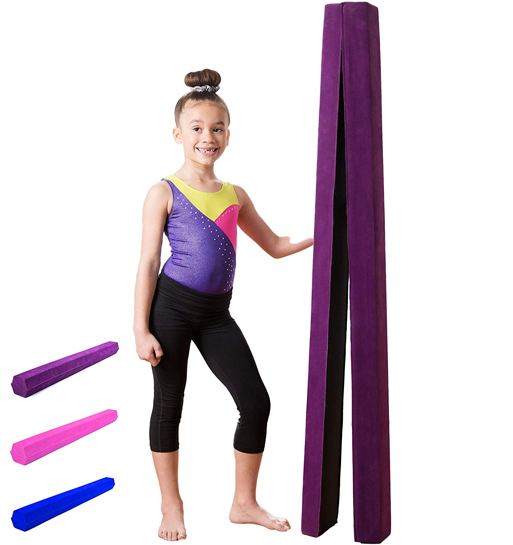 fbe19d9d6d34 Get Quotations · XTEK Gym 10ft Gymnastics Balance Beam: Folding Floor  Gymnastics Equipment for Kids, Suede Like