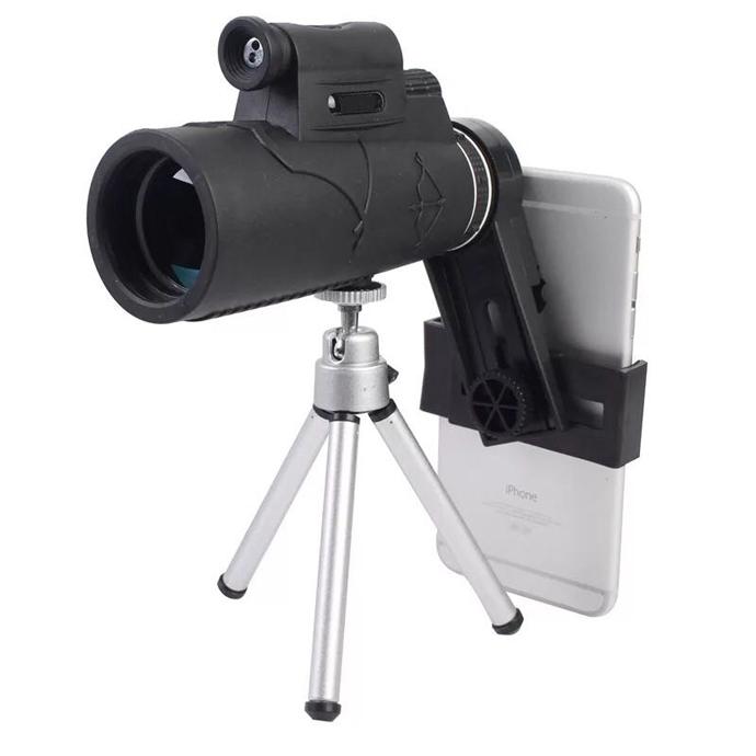 Fabricação de fábrica do telefone móvel telescópio monocular 12x50 para adultos entrega rápida com estoque pronto