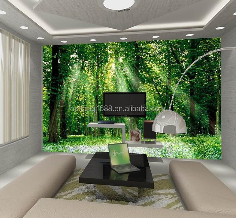 Relajarse aqu la naturaleza paisaje 3d papel para pared for Papel pintado paisajes