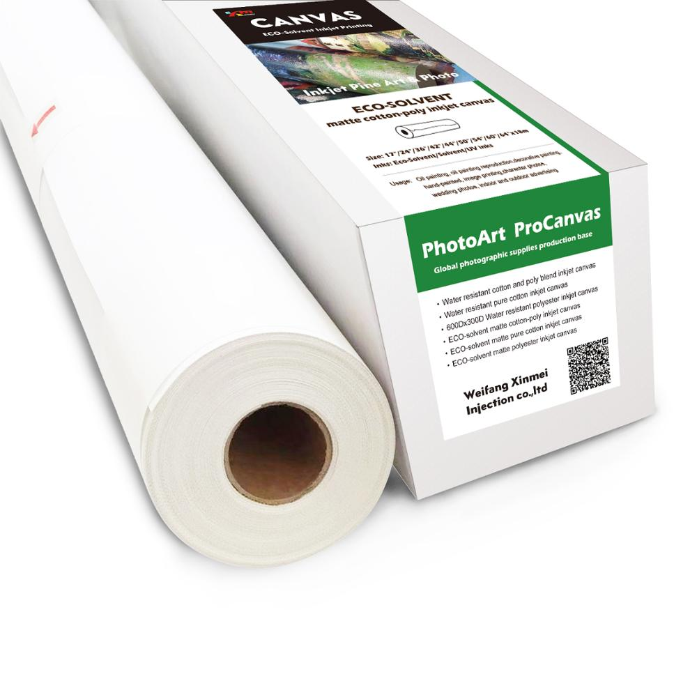 Eco-solvent Linen Canvas Roll For Wide Format Printer - Buy Wide