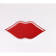 Plexiglass Serving Tray Lip Shape Acrylic Tray For Coffee Shop in red