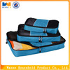 cheap polyester fabric travel organizer bag set for clothes