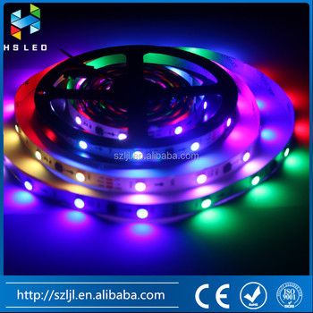 5m DC12V 60leds/m 5050 RGB flex led strip kit with IC controller