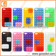 2013 funny silicone toy brick cover for iphone5