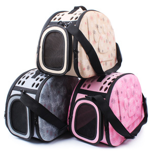Small Pet Sided Carrier for Dogs Cats Travel Bag Folding Carrier Cage Collapsible Crate Tote Handbag Potable Tools