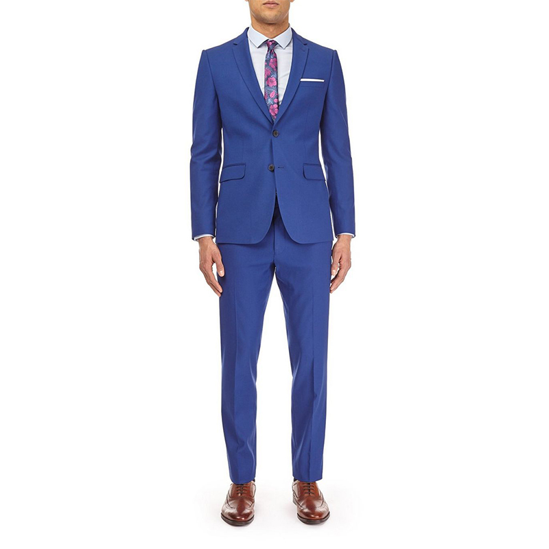 OEM custom Royal Blue Men's Wedding Suits 3 piece coat pant designs