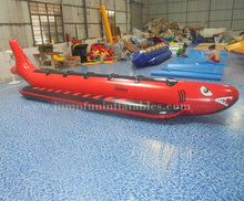 6 person Banana Boat sale 5.6m Inflatable Banana Boats Shark low price