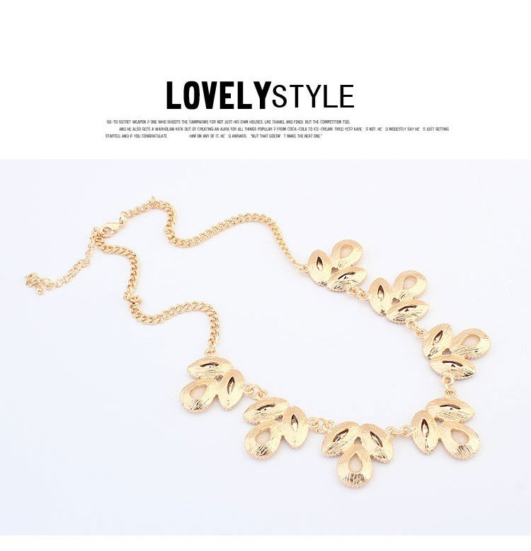 Wholesale Price Five Colors Enamel Flower Gold Necklace Fashion ...