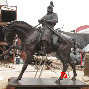 Life Size Metal Tang Dynasty Horse Sculpture For Decor