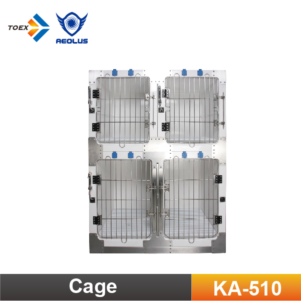 KA-510 Fiberglass Modular Cage Round Cornered Pet Dog Cages Kennel