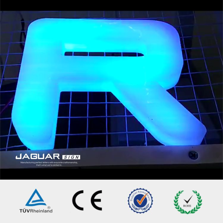 factory direct programming shop signboard 3d led light up letter China
