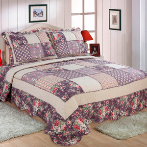 patchwork quilts cotton fabric bedding set