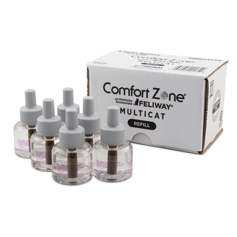 Comfort Zone Multicat Diffuser Refills, 6 Pack, For Cat Calming