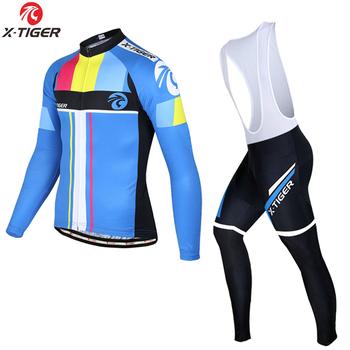 0bb56be0c X-TIGER hombres ciclismo Jersey conjunto de verano de manga larga ropa de Ciclismo  MTB