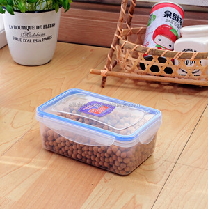 Clear plastic Food Container,PP Rectangle Plastic Lunch Box 400ML