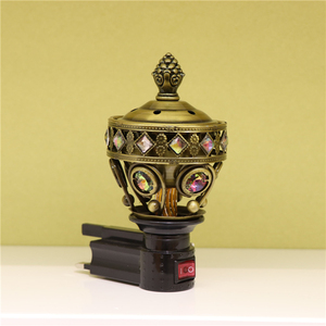 Arabic Crystal Metal Plug-in Electric Incense Burner