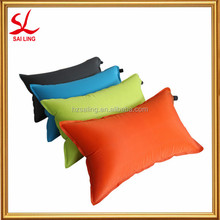 Outdoor Portable Folding Air Inflatable Pillow Double Sided Flocking Cushion for Travel Plane Hotel