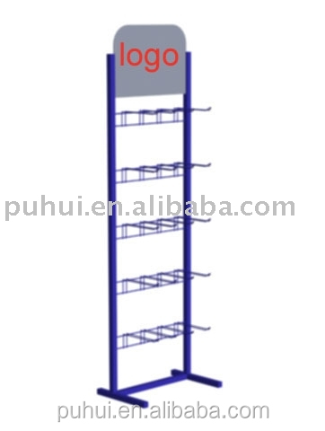 floor standing metal blister package display rack with trade assurance