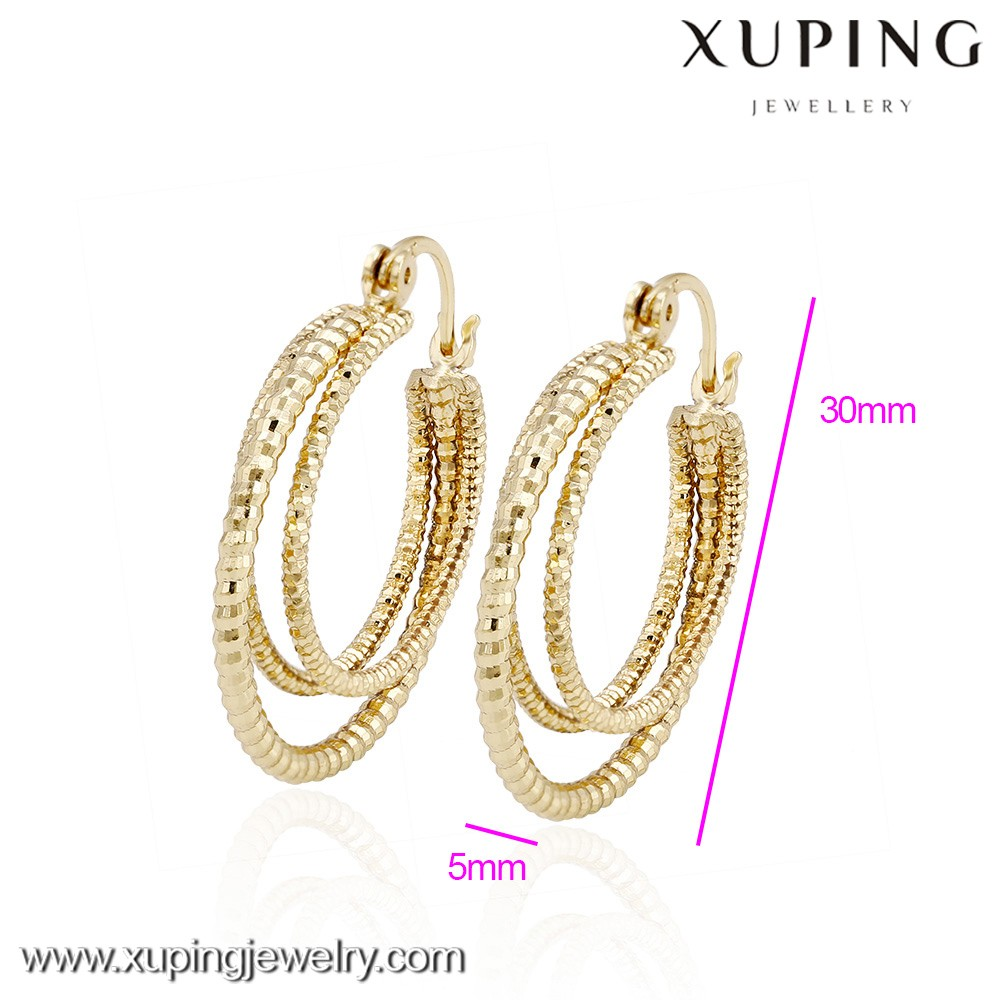 93577 xuping dangle earring, 14k gold color hanging latest earrings