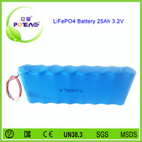 power tool 26650 lifepo4 battery pack with 3.2V 25Ah