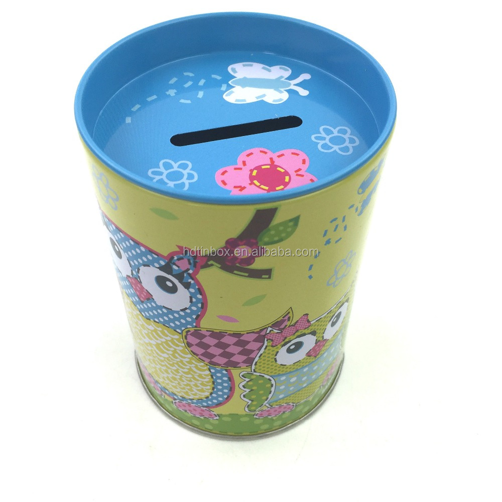 New factory production metal piggy bank money saving tin box