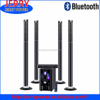 JR 5.1 Channel Hi-fi home theater stereo surround sound speaker system with bluetooth FM radio USB SD for home office party use