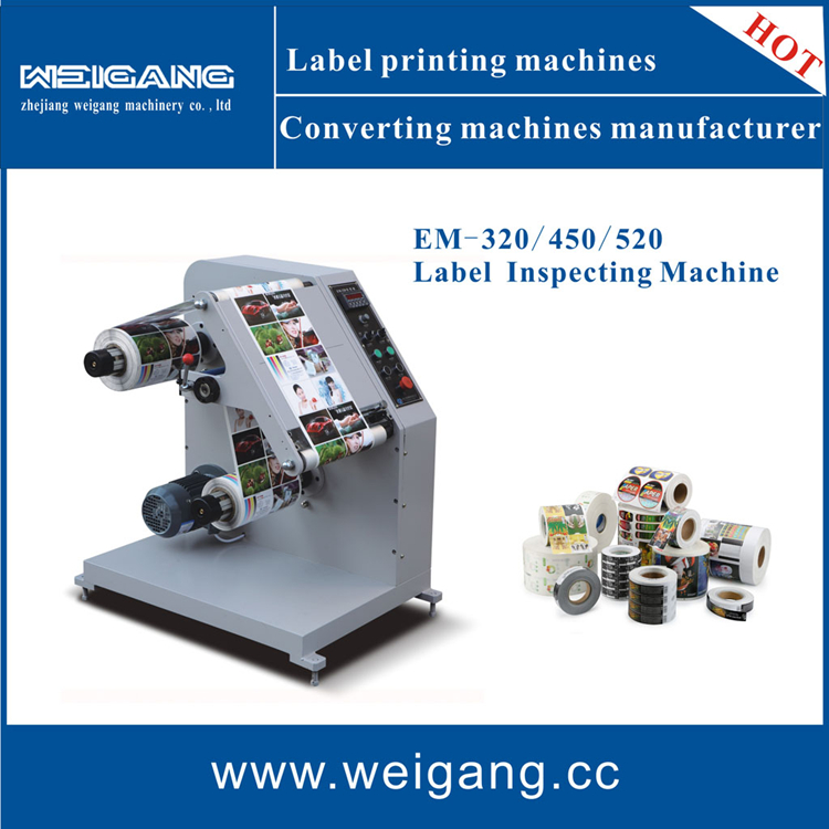 EM-450 Automatic label print rewinding machine/ rewinder machine/ manual inspecting machine