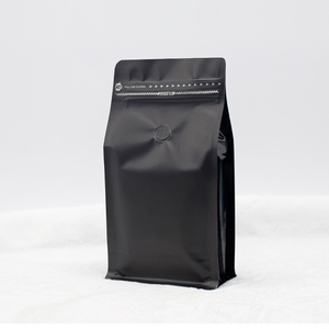 Black Stock Bag For 135x265x75mm Resealable Stand Up Block Coffee Bag With Valve