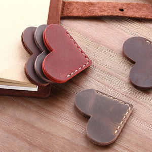 Handmade Personalized Vintage Leather Mini Corner Page Bookmark for Sales