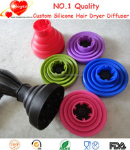 Folding Hairdressing Silicone Curly Hair Blow Dryer Diffuser