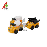 High-end plastic diecast model solid color printing inertial bucket truck toy