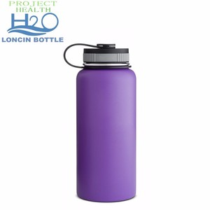 Vacuum Insulated Wide Mouth Stainless Steel Sweat Proof Water Bottle 32 Ounce,powder Coated Double Wall Metal Sport Flask