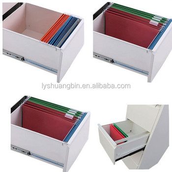 3 Drawer Steel File Cabinet Drawer Dividers/knock Down Double Color Metal  File Cabinet Drawer