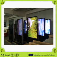 HD large format 55inch touch panel floorstand LCD Advertising Display Media