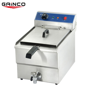 hotel kitchen equipment small size electric industrial fat deep fryer with valve thermostat EFB-101V