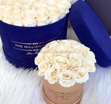Custom made delivery flowers cardboard round box, round hat boxes for flowers, flower rose boxes