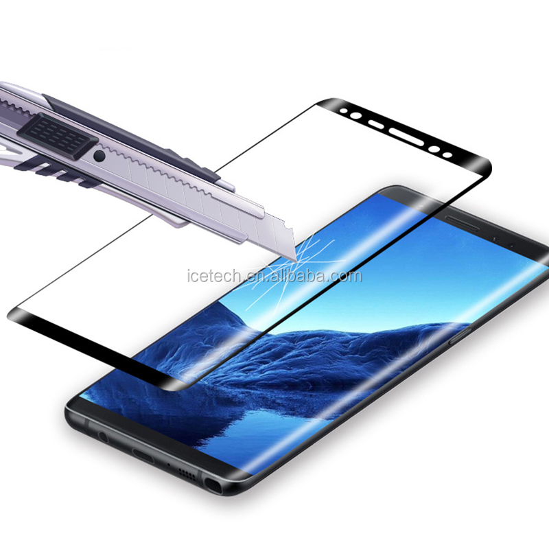 Cubevit Full Coverage/HD Clear 3D Curved Premium Mobile Tempered Glass for samsung Galaxy note 8