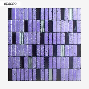 Purple Floor Tile Gl Mosaic Stone