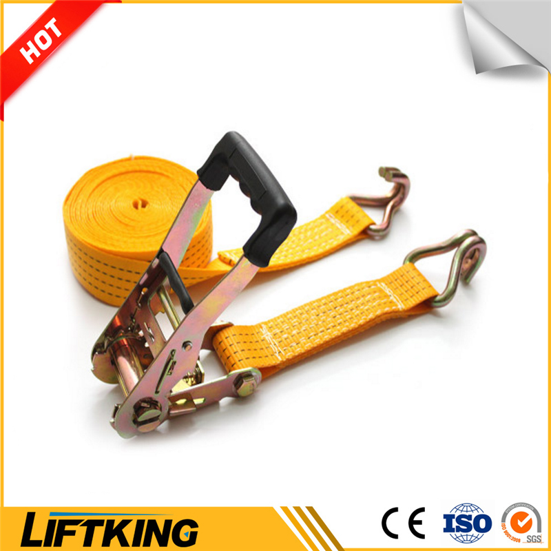 En1295 100%Polyester Lifting or Towing Ratchet Straps Tie Down