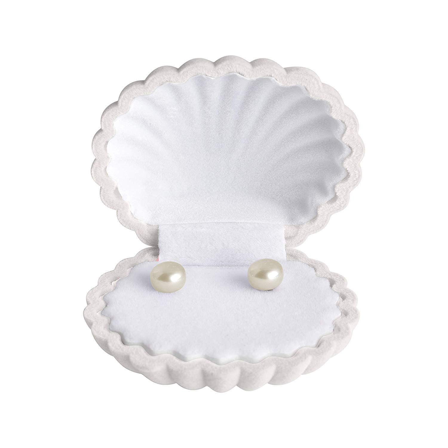 Pearl Earrings for Women | White | Button Shaped | Jewelry | Sterling Silver 925 | Silver Earrings | Freshwater Cultured | Stud Earrings | Superior Luster | Handpicked | Rhodium Plating