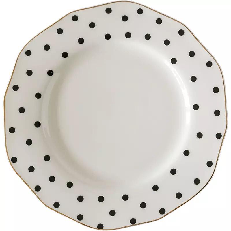 Fashion speckled custom printed bulk gold rim custom porcelain tea cups and saucer