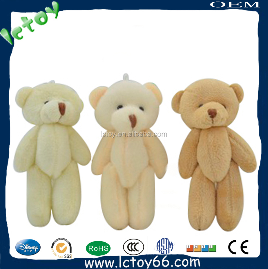 Oso de peluche precioso de china de fábrica para bouquet hot sale