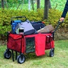 2019 new design collapsible folding outdoor utility wagon with brake GT1805