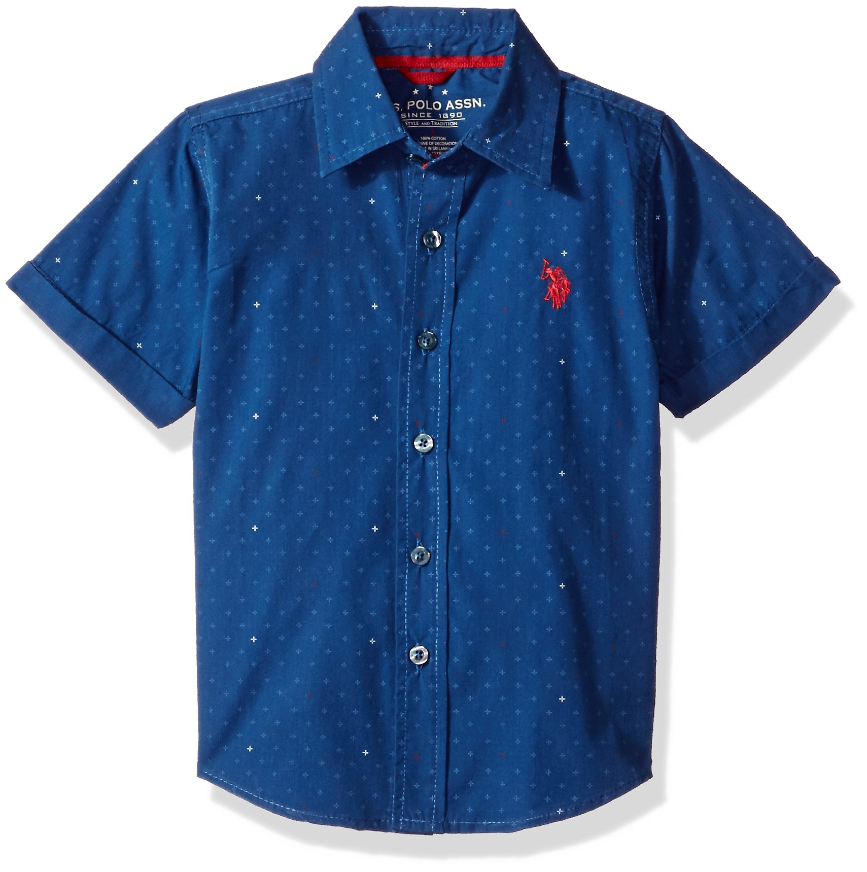 U.S. Polo Assn. Boys' Short Sleeve Chambray Sport Shirt