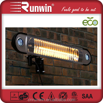 Outdoor Wall Mounted Electric Halogen Tubular Patio Heater With LED Ligtht