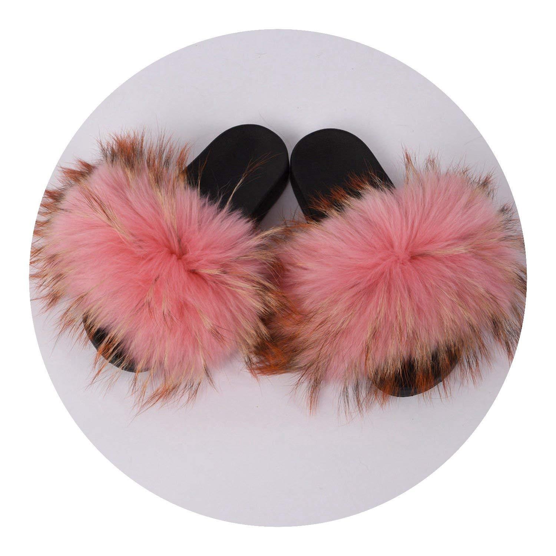 fcbcd78f2a44 Get Quotations · Kingwhisht Fur Slipper Fur Style Slides Soft Fur Shoes