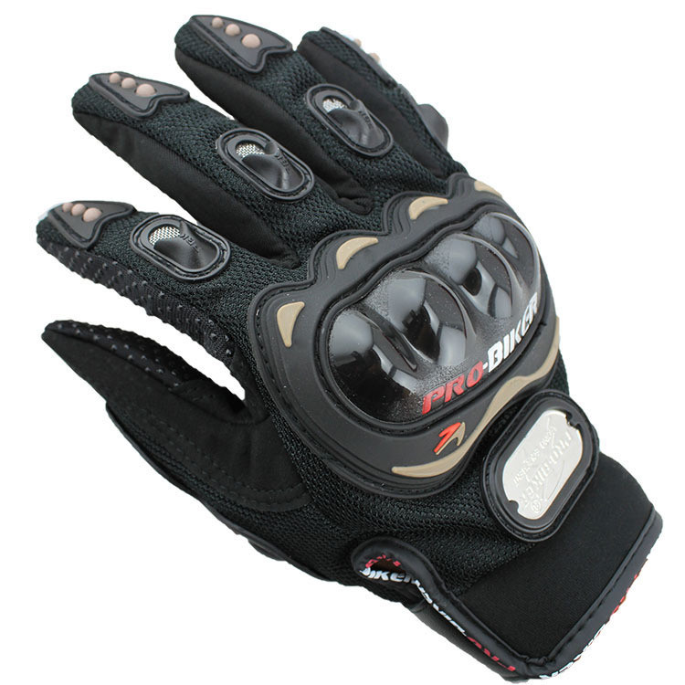 Professional Custom Protective Black Pro Biker Gloves High Quality Leather Motorcycle Gloves For Sale