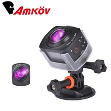 Original AMKOV AMK100S 360 Degree Action Camera All View Virtual Reality 3D Glasses Fisheye Camera 1440P@30FPS WiFi Sport Camera