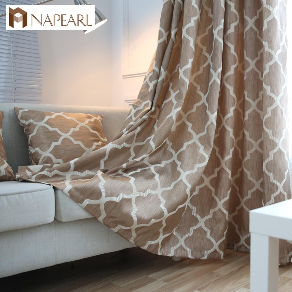 napearl moderna ventana cortinas de telas para cortinas de decoracin del hogar de la moda sala